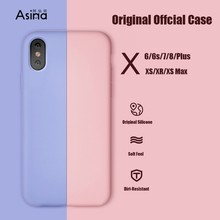 Original Silicone Case For iPhone X XS Max XR X 8 Plus 7 6 6S Plus Shockproof Case For iPhone 6 6s 7 8 Plus Coque Capa Bumper цена