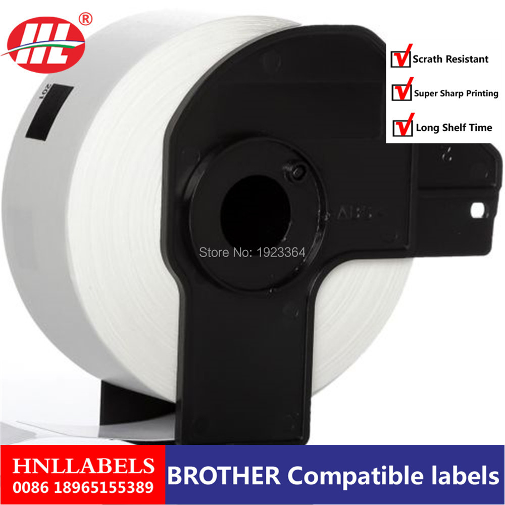 4X Rolls ETICHETTE BROTHER DK11201 With 1 Reusable Cartridge 29x90mm 400pz QL-500A QL-550 QL-560 QL-570 QL-700