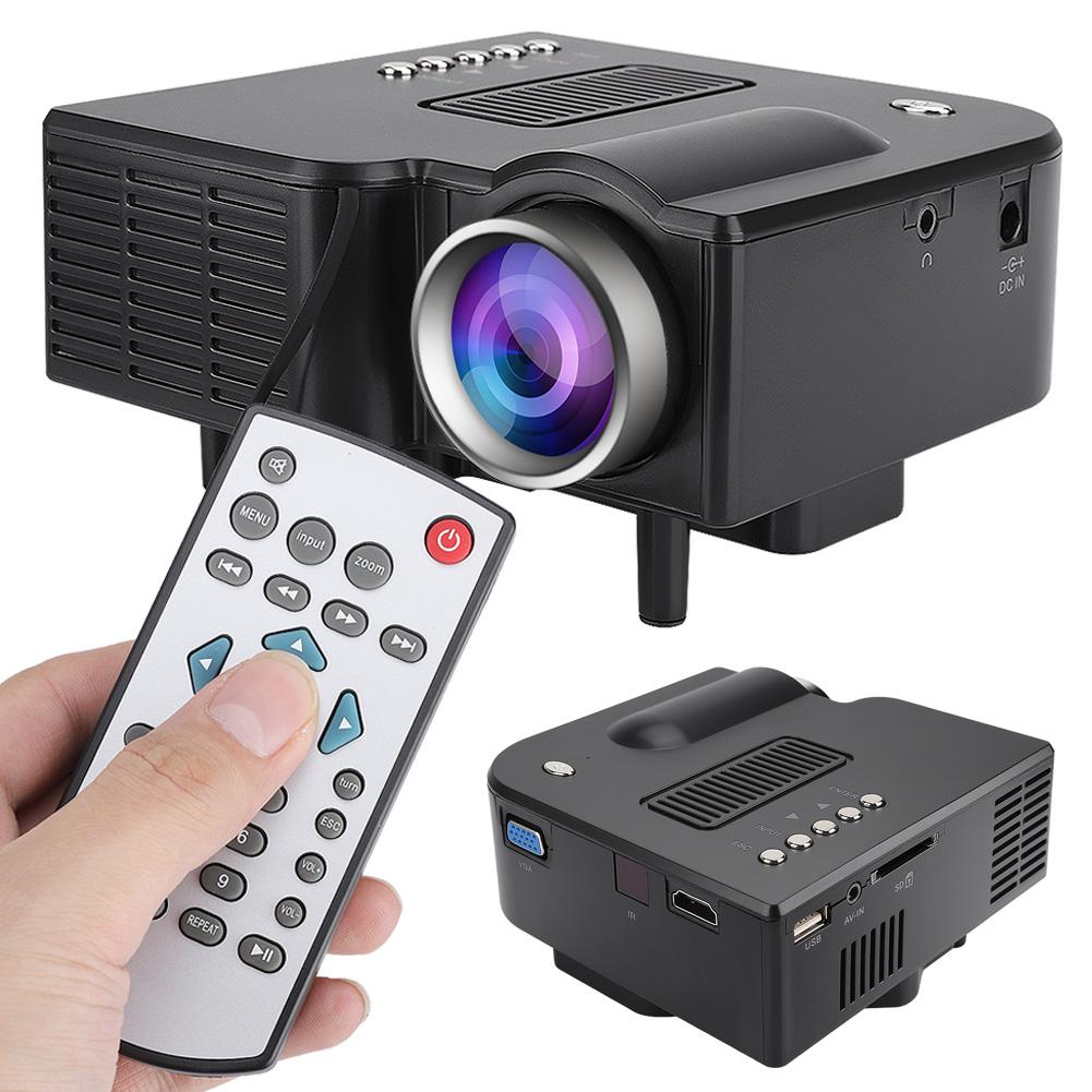 Mini LED Digital Home Theatre Full HD Projector with Remote-Control 400 ANSI Lumen 1920 * 1018 Resolution