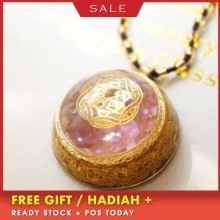 AURAREIKI Orgonite Energy Pendant Necklace For Women Transit Love Radiation Strawberry Crystal Decorative Jewelry Gift
