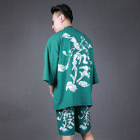 Summer Traditional Japanese Kimonos Male Japan Yukata Lounge Home Clothing Suits Men's Sleepwear Pajamas Chinese cloak H9055
