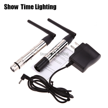 Show Time 2pcs/lot wireless dmx 512 controller 2.4G DMX 512 Transmitter and dmx receiver for stage light beam moving and led par rasha 1pc wireless transmitter dmx wifi wireless transmitter for led battery powered wireless led par light new model