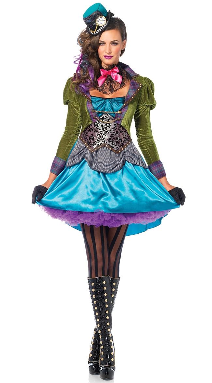 Deluxe Witch Craft Adult Ladies Womens Halloween Fancy Dress UK 8-18 Costume Wig