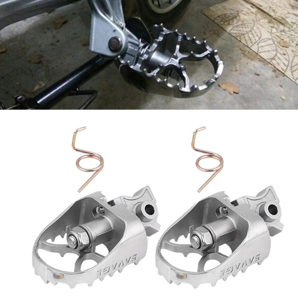 LumiParty 1 pair Foot Pegs Front Wide Footrest Foot Pegs Footrest for BMW R1200GS ADV F800GS