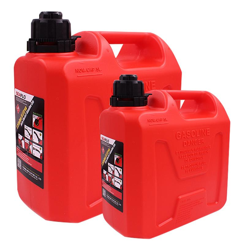 5L 10L Red Fuel Barrels Gas Spare Container Pot Anti static Fuel Gasoline Diesel Tank Pack Thickened High Strength Plastic