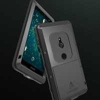 For Sony Xperia XZ2 H8216 Waterproof Case Hard Shockproof Aluminum Metal Cover for Sony Xperia XZ2 Compact Full Cover Protector