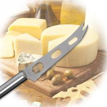 Новинка, круглая ручка, нож для пиццы из нержавеющей стали, для овощей, 3 отверстия, для масла, вилки, сыра