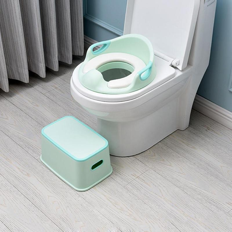 Kids Toilet Stool Multifunction Footstool Baby Toilet Training Tool Anti-skid Stool Safe Baby Toilet Training Chair(China)