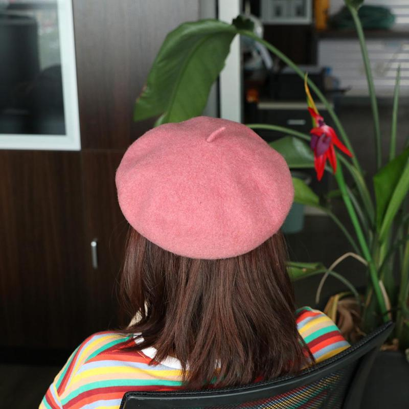 Fashion Women Beanie Girls Solid Color Artist Hats Casual Warm Winter Beret Cap Elegant 10 Colors Female boinas para mujer beret