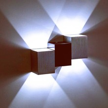 Modern 6W led wall light Creative aluminum wall sconce lamps Indoor livingroom stair aisle decorative led wall lamp AC85-265V creative lovely handmade sands shells cat led e14 clock wall lamp for children s room aisle kid s presents ac 80 265v 1236
