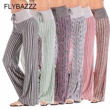 Trousers Yoga-Pants Flared Plus-Size Print Loose Slim Workout High-Waist Running Women