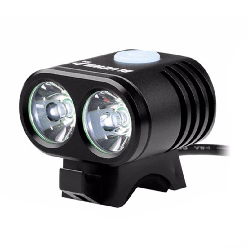 BMDT-BLUEWILD vélo lumière 2X Xml T6 lampe vélo lumière 10400 Mah batterie étanche batterie externe Usb Charge pour téléphone haut-parleur