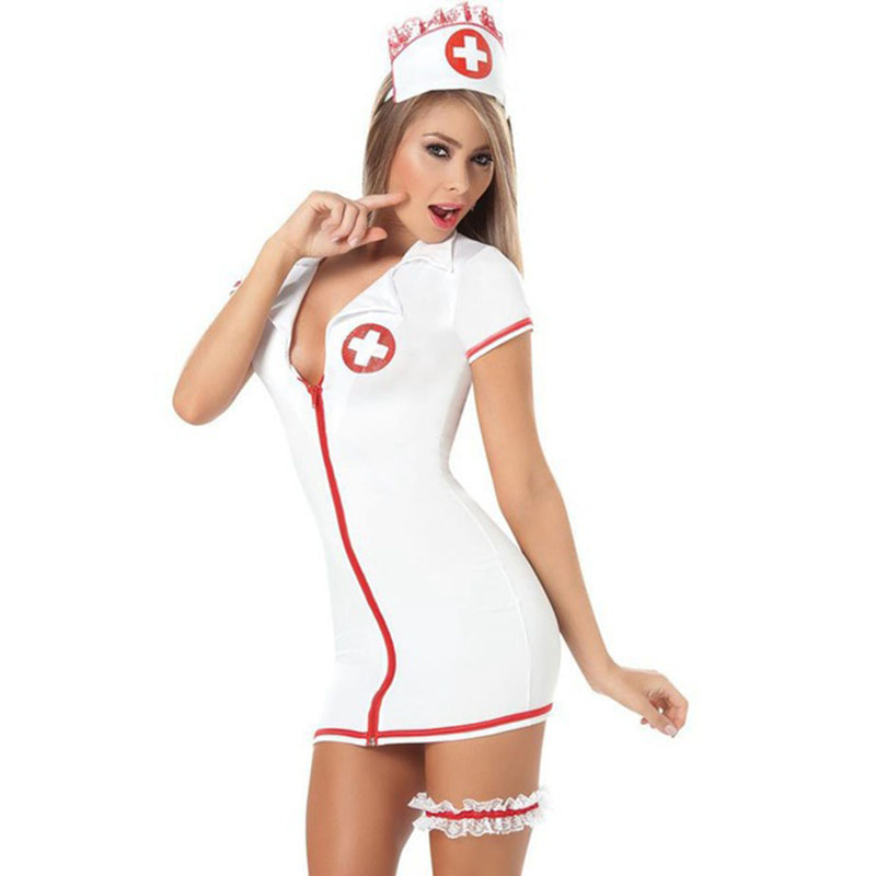 <font><b>Sexy</b></font> Lingerie Women Plus Size <font><b>Sexy</b></font> Teddy Nurse Costume With Leg Belt SM <font><b>Cosplay</b></font> <font><b>Sexy</b></font> Costumes Erotic Dress Adult <font><b>Sexy</b></font> Lingerie image