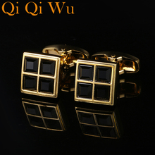 Qi Qi Wu  New Arrival French Cuff links  Cuff Buttons Shirt Cufflinks Metal Buttons Men High Quality Abotoaduras Free Shipping pink cuff links buttons pair