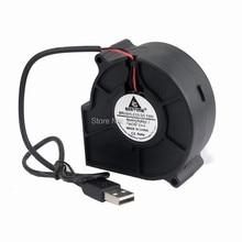 1 Pcs Silent DC 5V USB 75mm 75mmx30mm Computer Case Brushless Blower Cooling Cooler Fan
