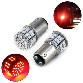 2pcs 12V 1157 BAY15D Rear Tail Light 50-SMD LED Red Car Brake Lamp Stop Bulb Kits(Size:35*15mm)