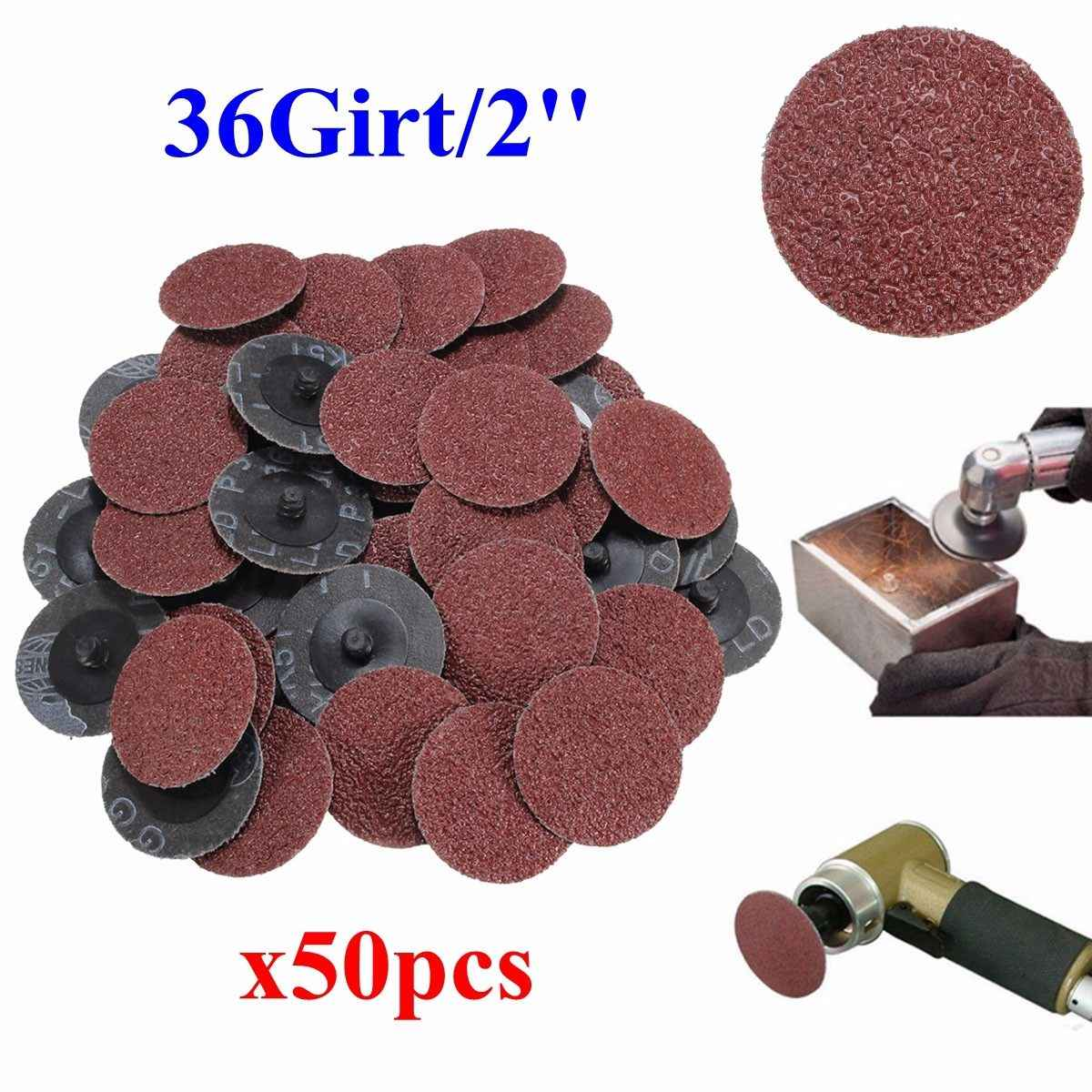 "25mm 1/"" Roloc Type R Lock Surface Polishing Conditioning Sanding Disc Set 50Pcs"