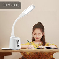 ArtPad Student Type Dimmable DC5V Flexible Arm LED Table Lamp With Touch Dimmer Pen holder led Eye-Protection Desk Lighting