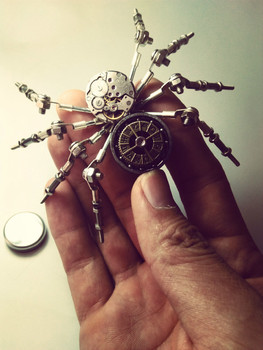 Toys-Model-Kit-DIY-Metal-Spider-Robot-Steampunk-Hobby-Tools-Creative-Gifts-Meccano-Assembly-Model-Free