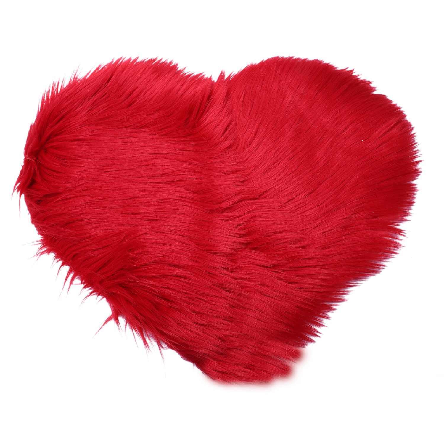 IALJ Топ Любовь Имитация шерстяной коврик наматрасник диван Подушка плюшевая ковер гостиная журнальный столик канапе спальня