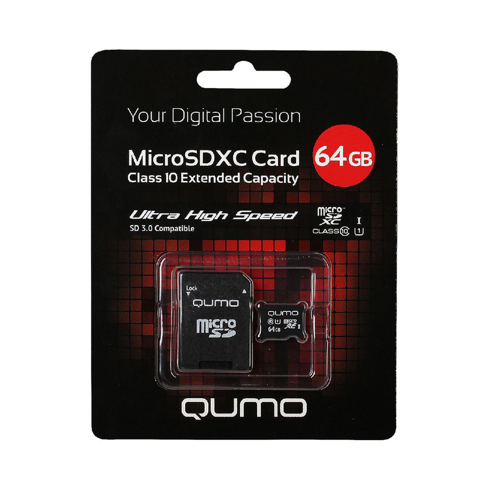 Карта памяти QUMO QM64GMICSDXC10U1 microSDXC 64GB