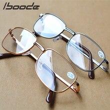 c88817c3a Iboode الذهب الفضة الإطار المعدني الكامل الراتنج العدسات مريح ضوء نظارات  للرجال النساء نظارات للقراءة 1.0 1.5 2.0 2.5 3.0 3.5 4.