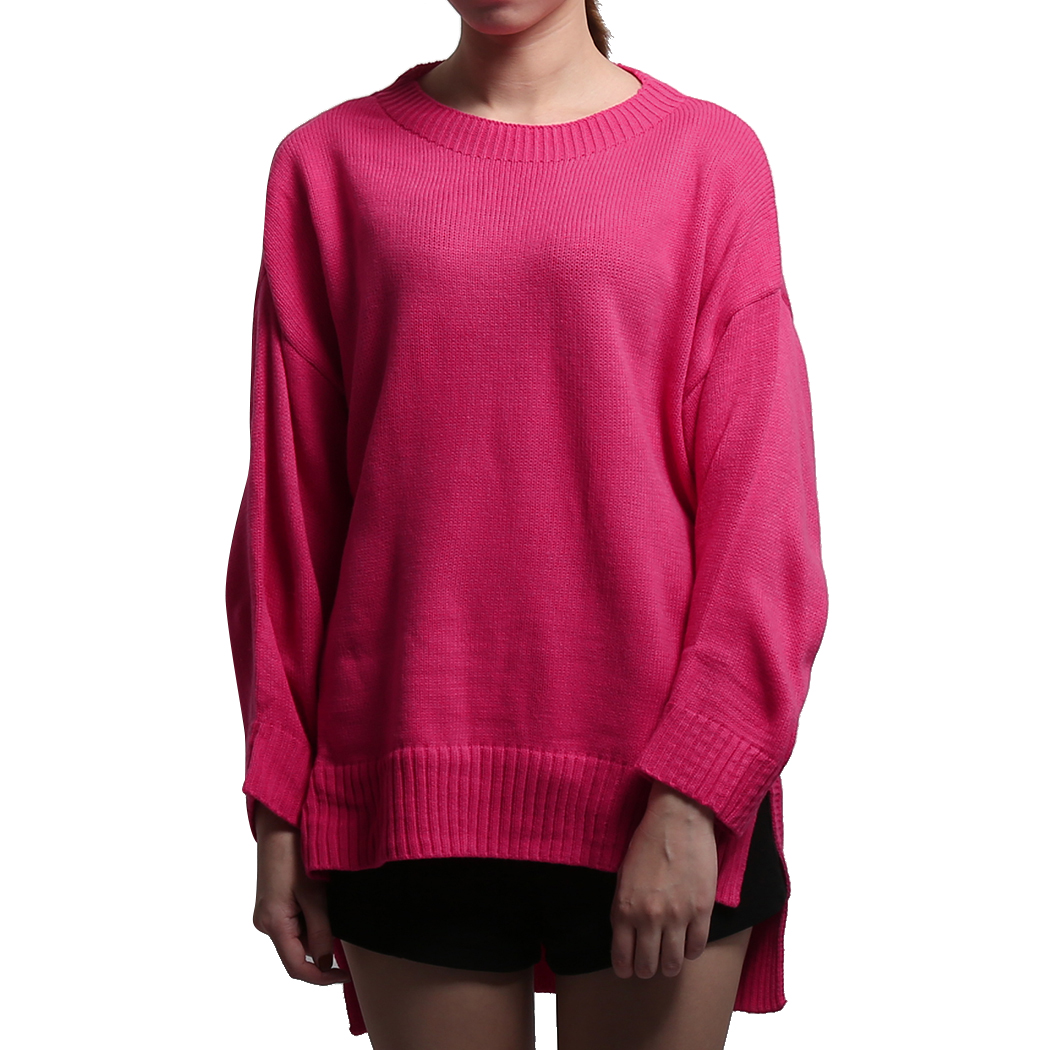 Women Sweater Fashion Batwing Long Sleeve Split Baggy Pullover Basic Top Winter Spring Oversized Loose Knitted Jumper Pull Femme
