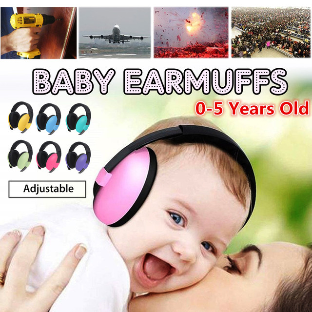 Safurance Baby Earmuffs 3 Months-5 Years Old Child Baby Hearing Protection Safety Earmuffs Noise Reduction Ear Protector