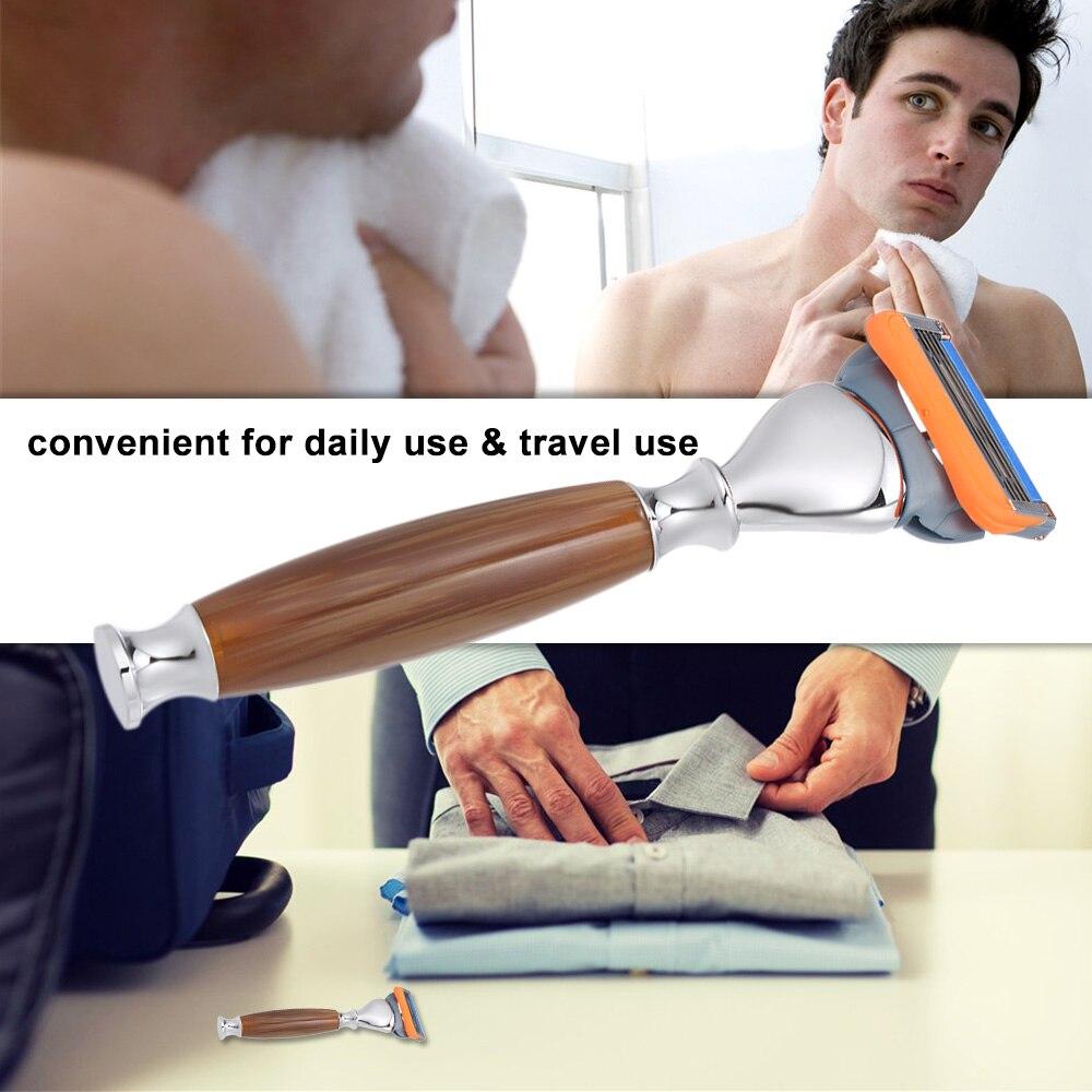 1 Pc 5 Klingen Männer Klassische Rasiermesser Traditionelle Manuelle Rasiermesser Klinge Bart Rasieren Rasierer Werkzeug