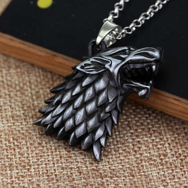 เกมของ Thrones สร้อยคอ Stark จี้สร้อยคอ Direwolf Jon Snow Arya สร้อยคอ