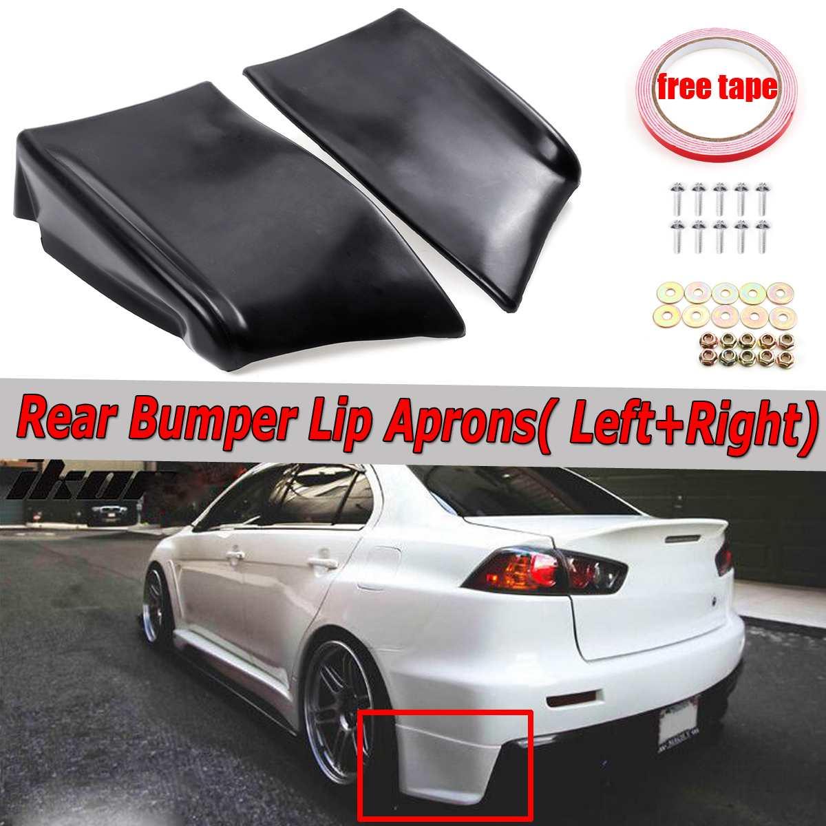 2pc car rear bumper lip spats aprons diffuser splitters protector for mitsubishi lancer evolution x evo
