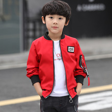 Children's clothing spring and autumn casual jacket 2019 new personality back print jacket long-sleeved boy clothes long sleeved overalls suit male wear spring and autumn workshop factory clothes jacket auto repair clothing sanitation tooling l