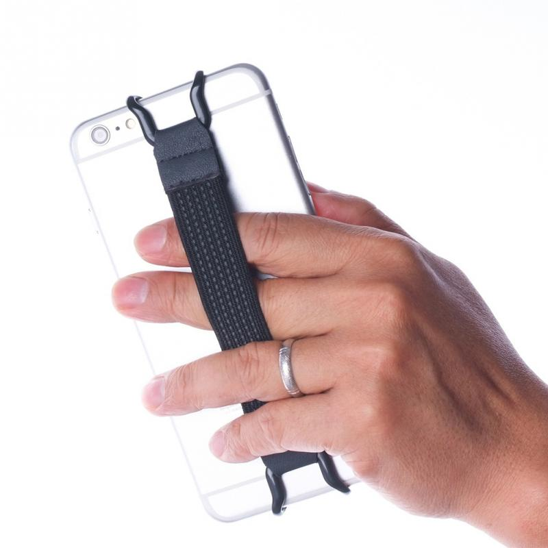 Flexible Mobile Phone Holder Finger Grip Elastic Band Strap Metal Bracket For IPad For Universal Smartphones #1120