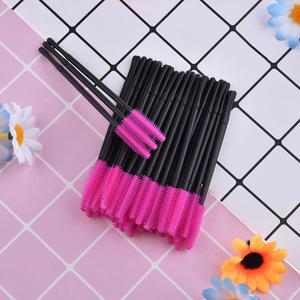 Image 5 - 50 יח\סט חד פעמי ריס מברשת מסקרה שרביטים מוליך ריס מסרק איפור מברשות מתאים לשימוש יומיומי