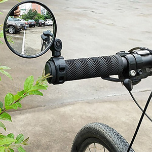 High Quality Universal 360 Rotate Adjustable Bicycle Rearview Handlebar Wide-angle Convex Mirror Cycling Rear View MTB Bike(China)