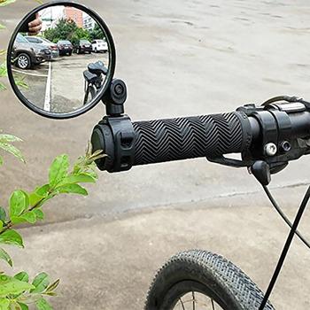 Wysokiej jakości uniwersalny 360 obrót regulowane lusterko wsteczne do roweru kierownica szerokokątny wypukłe lustro jazda na rowerze widok z tyłu MTB Bike tanie i dobre opinie aiboduo motorcycle accessories 15mm 35mm ABS plastic + reflective mirror Lusterka boczne i akcesoria