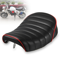 Vintage Style Hump Cover Motorcycle Racer Seat Soft Black For Honda MONKEY Z