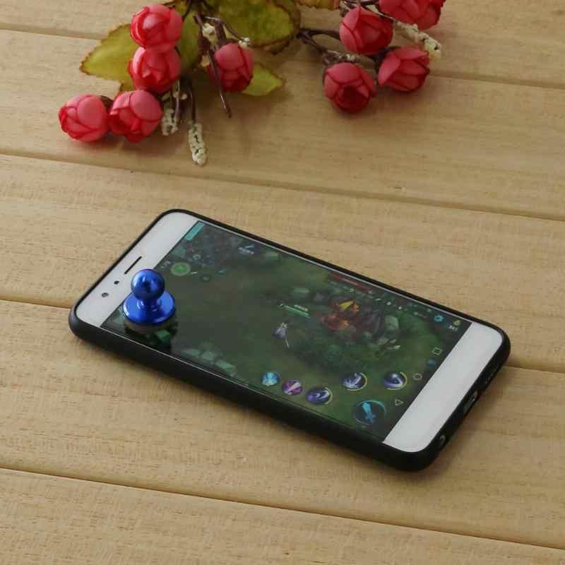 ブルーシルバー小型スティックミニゲームパッドゲームジョイスティックタッチスクリーン携帯電話ジョイスティックジョイパッドロッカーのための Ios の Android 携帯電話