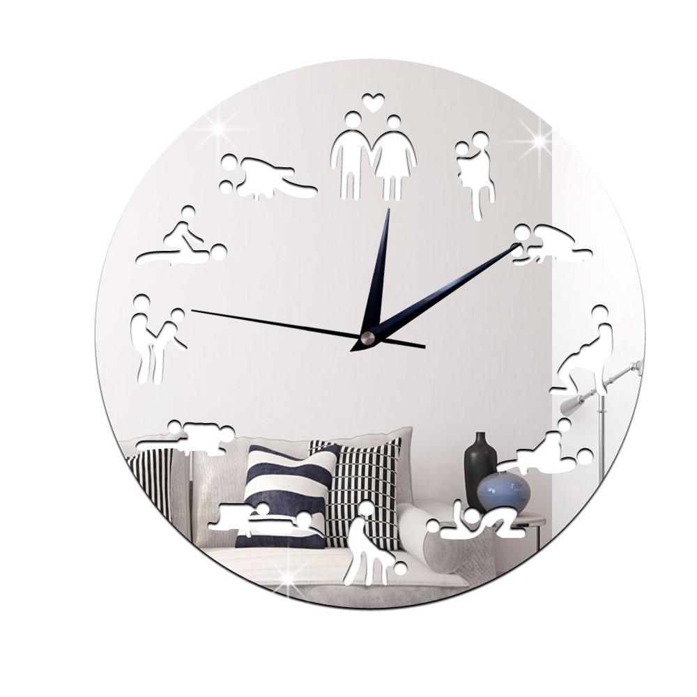 Hot Modern Design Sex Position Mute Wall Clock For Bedroom Wall Decoration Silent Clock Watch Wedding Gift Wall Clocks