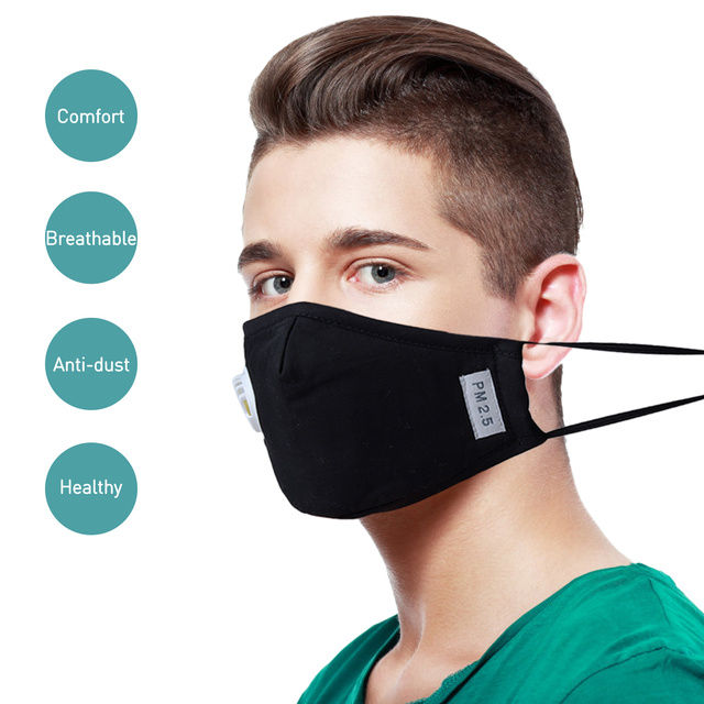 3PCS Cotton Dustproof Mouth Face Mask Mouth Masks Activated Carbon PM2.5 Dust Proof Face Masks Mouth Covers Anti Dust 6 Filter 3