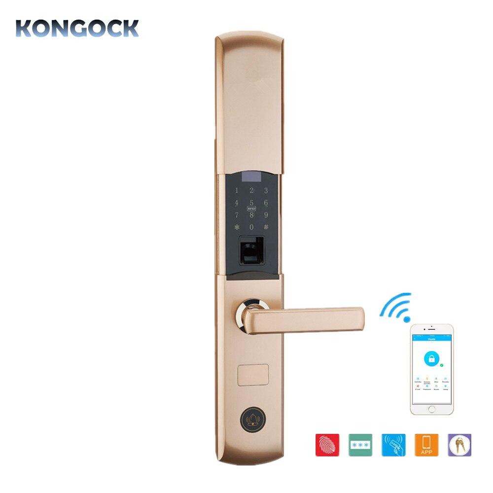 Empreinte digitale à distance d'app et serrure intelligente de porte de RFID numérique, fonction multiple et déverrouillage de combinaison pour la maison et l'appartement etc.