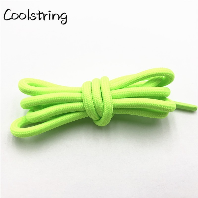Coolstring Solid Color 0.5cm Polyester Salmon Round Shoelaces Unisex Women Men Sneaker Shoestring Running Colors Cord Rope Laces