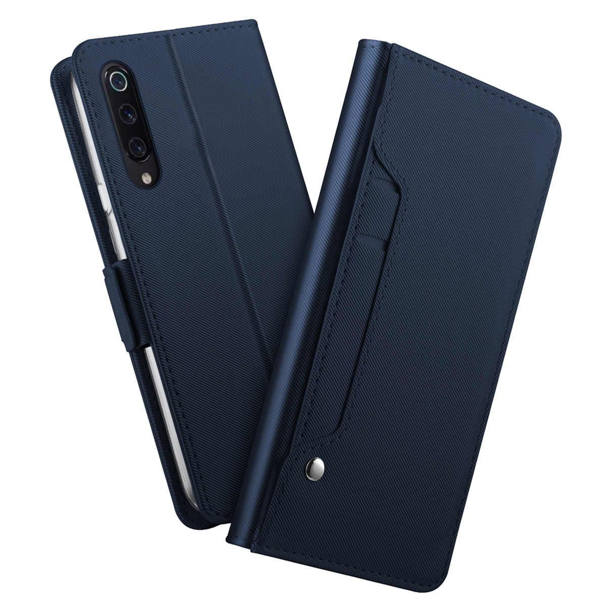 Voor Xiaomi Mi 9 Mi 9 Se Case Magnetische Pu Leather Flip Stand Spiegel Draaien Kaarthouder Wallet Cover Voor xiaomi Mi9 Mi 9T Pro Case