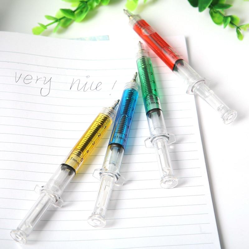 Injection Ballpen Immitation Doctor Nurse Neele Ball Point Pen Office School Stationery Pen Syringe Needle Ballpoint Pen