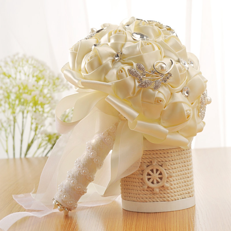 Bride Holding Flowers Romantic Wedding Colorful Bride 39 S Bouquet Fake Wedding Bouquet in Artificial amp Dried Flowers from Home amp Garden