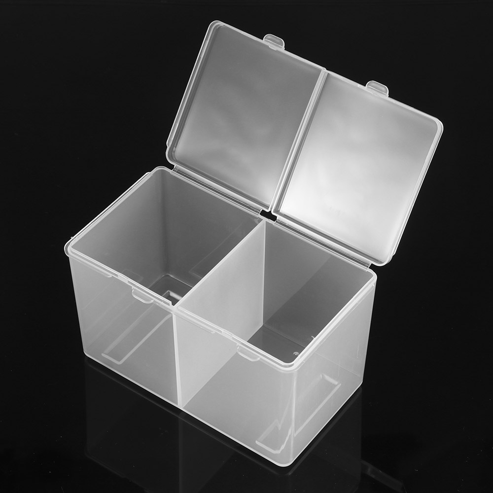 Case-Holder Container Storage-Box Nail-Polish Makeup Cotton-Pads Plastic 2-Compartments