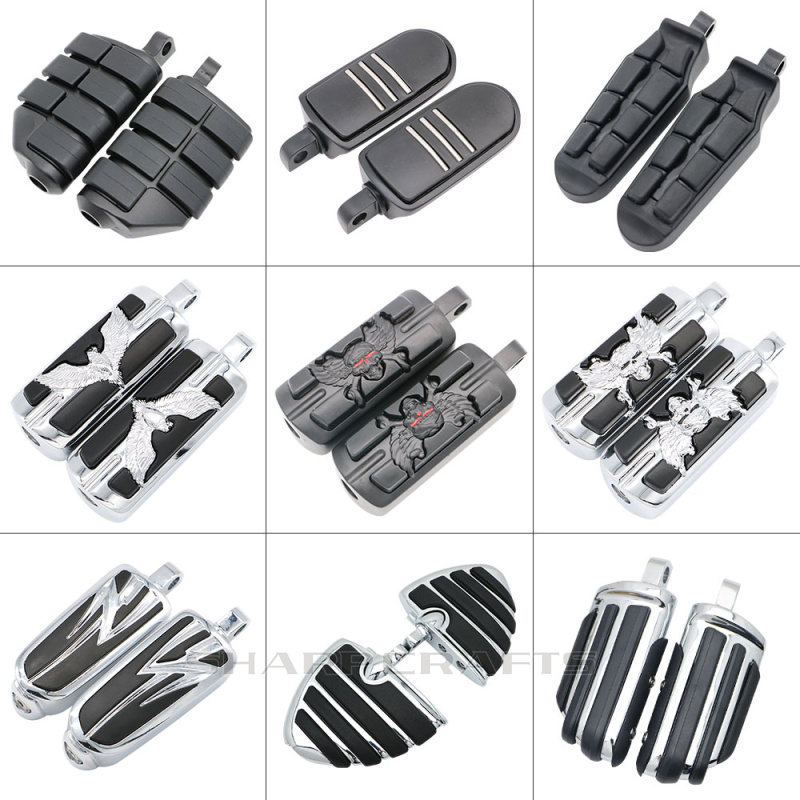 Motorcycle Mount-style Wing Style Foot Rests Footpegs For Harley Touring Road King Electra Glide Softail Goldwing V-rod Automobiles & Motorcycles Motorcycle Accessories & Parts