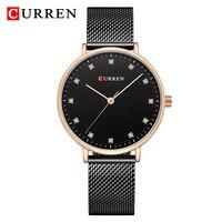 CURREN Women Watch New Analog Quartz Top Luxury Brand Fashion Woman Wristwatches Ladies Gift Simple Lady Clock Relogio Feminino