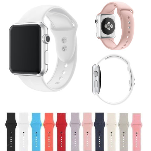 Replacement Silicone Sport Band Strap for Apple Watch 38mm 42mm iWatch Wrist Strap Bracelet Small Hot