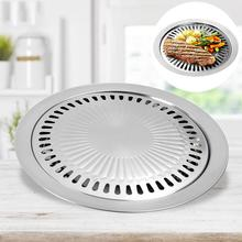 Korean Style Non-Stick Barbecue Pan Tray Griddle Household Kitchen Outdoor BBQ Cooking Utensils Round Roasting Utensil